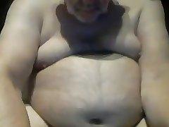 Chubby Uncut Grandpa Wanking