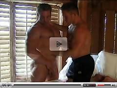 Furious encounter with massive muscle hunks boners