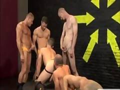 Big tattood muscled males suck each others thick cocks