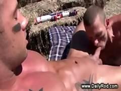 Tattooed hunks enjoy sucking and fucking