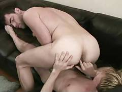 Two hot men fucking bareback each other.
