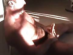 Hung Bear has 45 min wank & cums