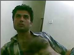 Pakistani hunk Mansoor khan showing on webcam again