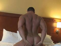 Gay big cock butt pecs arms bodybuilder muscle worship hunk jerking off