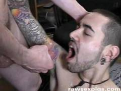 Two sexy punks camp out at two glory holes and are rewarded by two hot hung hard cocks and cumshots that they both slurp down till the hot dicks are drained Watch it all at rawsexpigs com for all your raw bareback and raunchy xxx gay movies