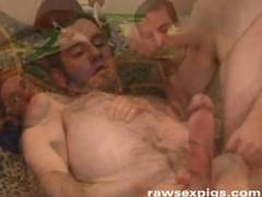 Two hot studs hangs out at a glory hole when they are rewarded by a hard long cock where they devour deliciously  Watch it all at rawsexpigs com for all your raw bareback and raunchy xxx gay movies