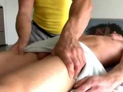Hunky straight guy amateur gets sucked off by gay masseuse