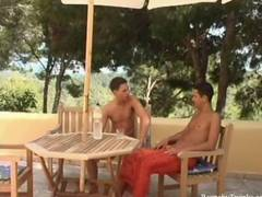In this scene you get to see the two horny twinks going at it in a hardcore outdoors fuck for your viewing pleasure.
