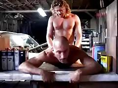 Two Dirty Mechanics in Garage
