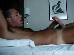 Beautiful boy pleasures his cock