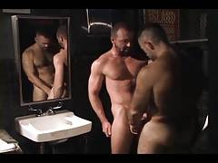 men's room hook-up (Josh West and Ray Dragon)