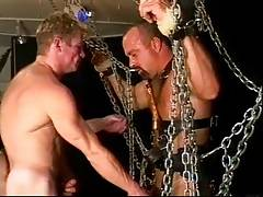 Steve Parker in chains