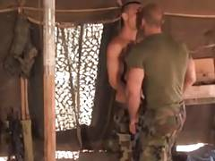 Hairy Sergeant fucks horny Soldier
