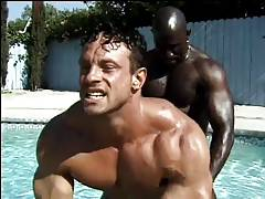 MJ - Hot Black Studs Get Hot And Heavy In The Pool