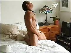 MJ - Eric Strips Naked And Strokes His Hard Cock