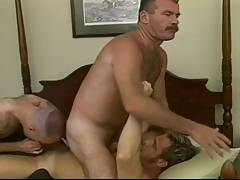 Three horny hunks in hot gay threesome