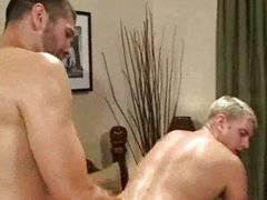 Gay double penetration orgy