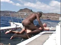 Franco Cento & Sandro on a boat