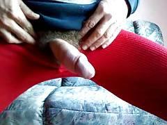 abspritzen mit strumpfhose