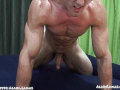 Oiled Up Muscle n Cock