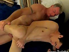 Amazing gay scene Daddy Brett obliges of