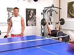 Bareback Orgy In Gym
