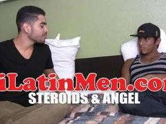 Hot muscular Latino fucking
