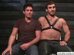 Bound Jett Jax covered with sperm