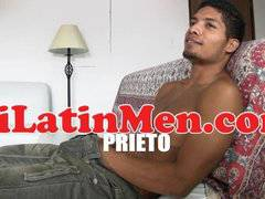 Latino jerking off huge dick