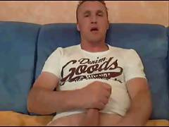 hunky german jerks his dick on cam