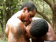 Muscular guys fucking