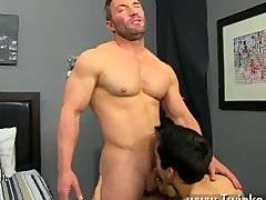 Naked men Brock Landon is thinking dinner