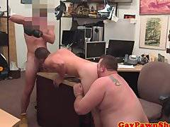 Real straight guys pawnshop spitroast
