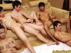 Piss fetish asian dudes masturbate jerking of