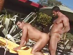 A couple of muscle boys really go at it!!!