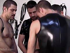 Leather Bondage Gangbang