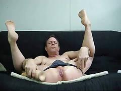 Buttboy Michel and a Massive Dildo
