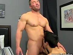 Hardcore gay Brock Landon is thinking