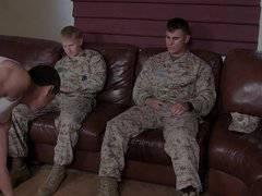 Hot!! 2 recruits fuck civilian+cum in rubber