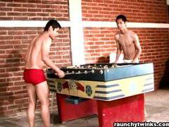 David Noe Plays Strip Fooseball