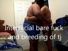 Interracial Raw fuck and Breeding TJ