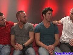 Rex Roddick and four pals suck on sofa