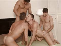 Hot bareback foursome.