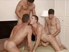 Hot bareback foursome.