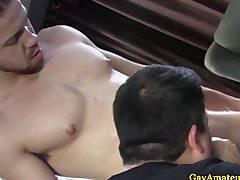 Straight amateur muscled jock gay handjob