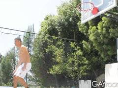 GayRoom Hot guys grinding on the bball court