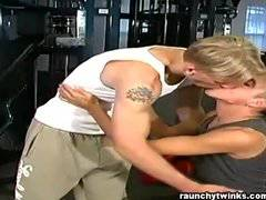 Ethan and Liam's gym fuck