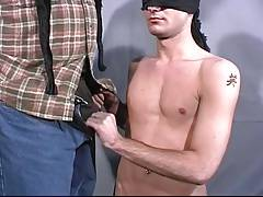 Blind folded brondie suck dick