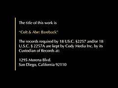 Colt & Abe: Cum Twice bareback