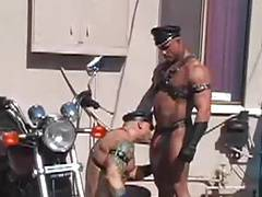 Big Roger and Peter leather
